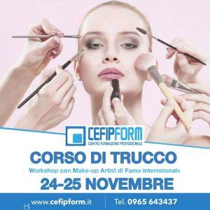 EVENTO IMPERDIBILE CORSO DI TRUCCO 24-25 NOVEMBRE