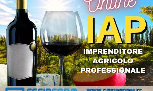 CORSO IAP ONLINE PER IMPRENDITORE AGRICOLO PROFESSIONALE