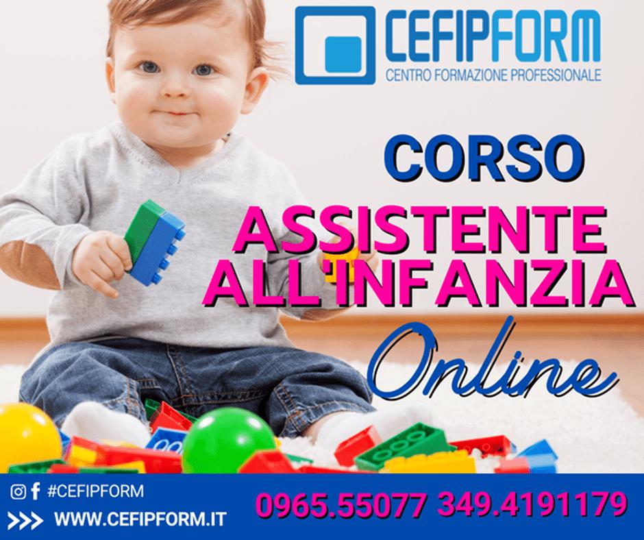 cefip form corso assistente all'infanzia online