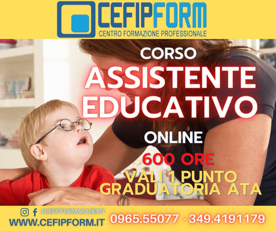 cefip form corso assistente educativo 600 ore online news 2021